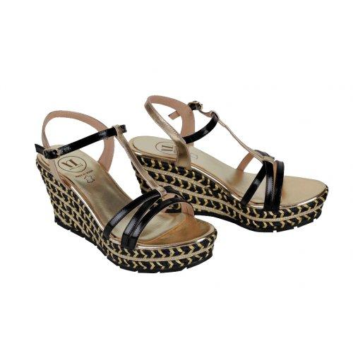 39b32642f39a VITTI LOVE sandále čierno-zlaté