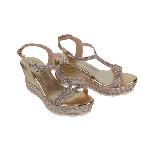 VITTI LOVE sandále zlato-strieborné  c481c60eaeb