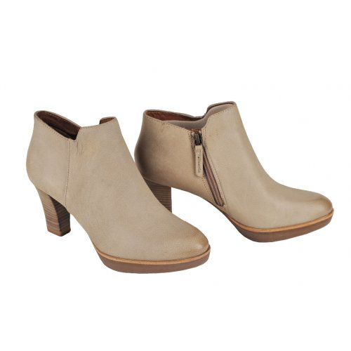 07ddc364565ab TAMARIS členkové poltopánky béžové koža | Kožené topánky