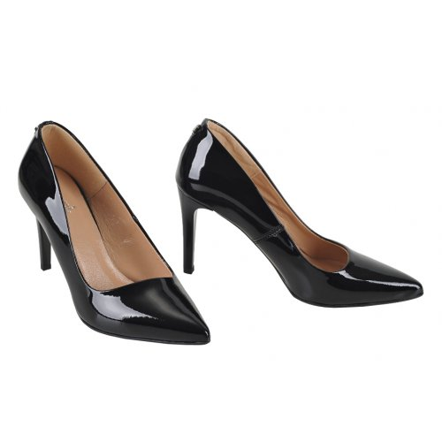 de204f4b9 DAPI lodičky koža lak čierne | Kožené topánky