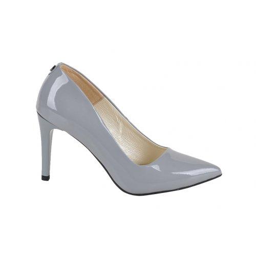 7f73b5e03 DAPI lodičky koža lak šedé | Kožené topánky