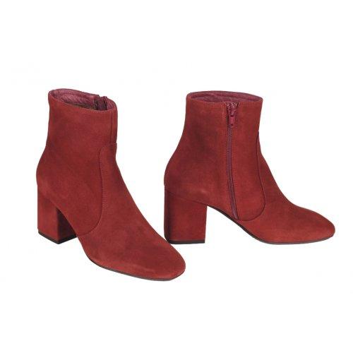 e55621cdd LUCIA BOIX členkové čižmy koža semiš bordová | Kožené topánky