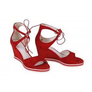 a528523d6fc6 GERRY WEBER sandále koža červené platforma