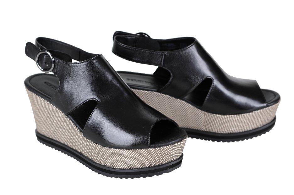 d62365347e0a GERRY WEBER sandále koža čierne platforma