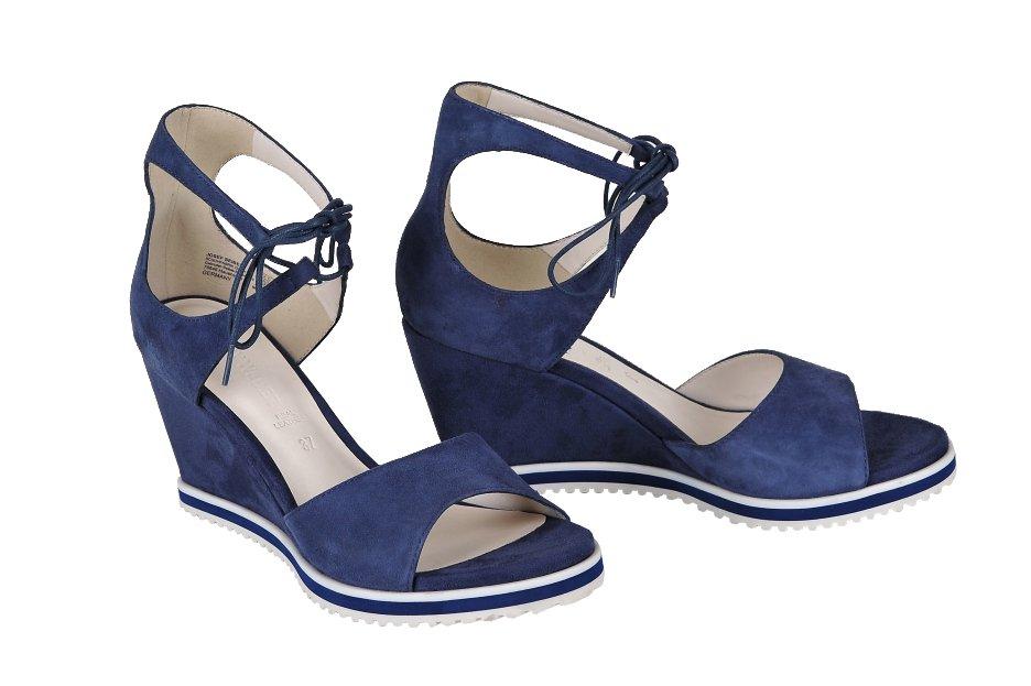 2cd200244e2a GERRY WEBER sandále koža semiš modré