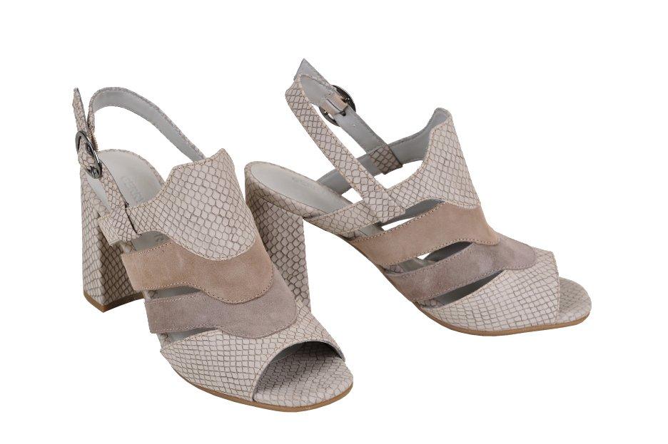 c80409f924fb GERRY WEBER sandále štruktúrovaná koža béžové