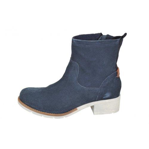 S. OLIVER jarné čižmy koža modré  b3f37e9e63a