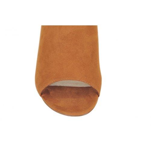 TAMARIS šľapky textil koňakové  c47eaf51818