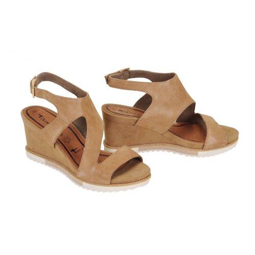 322921a1f1a06 TAMARIS sandále koža nubuk béžové | Kožené topánky