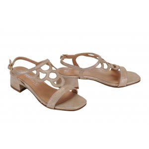 439cf2dc6774 MARIA JAÉN sandále koža béžovo zlaté