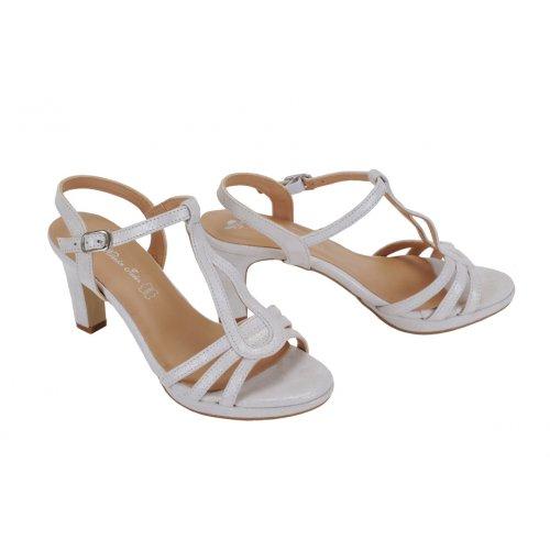 efb889c9cb50 MARIA JAÉN sandále koža biele