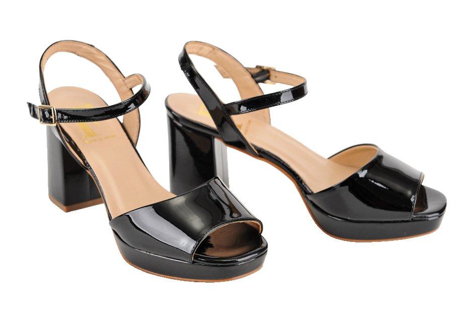 6dfffd3b1f992 DESIGN FRANK sandále koža lak čierne