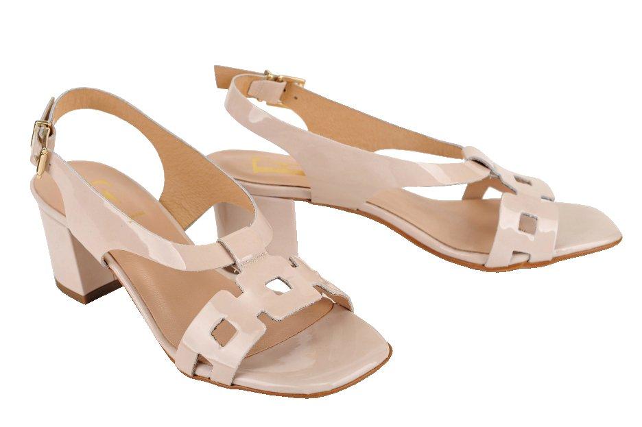 ced701280ae8 DESIGN FRANK sandále koža lak smotanové