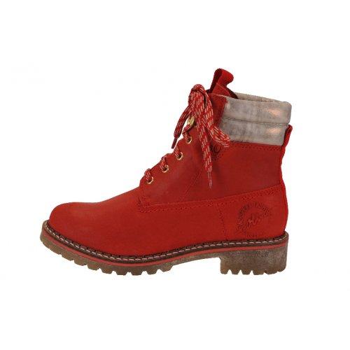 345274a42c S. OLIVER outdoorové topánky koža červené