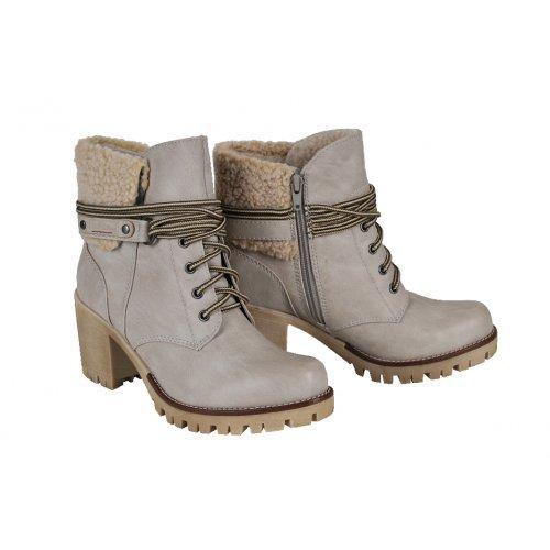 d07b5c7ac3a8b S.Oliver outdoorové topánky koža smotanové | Kožené topánky