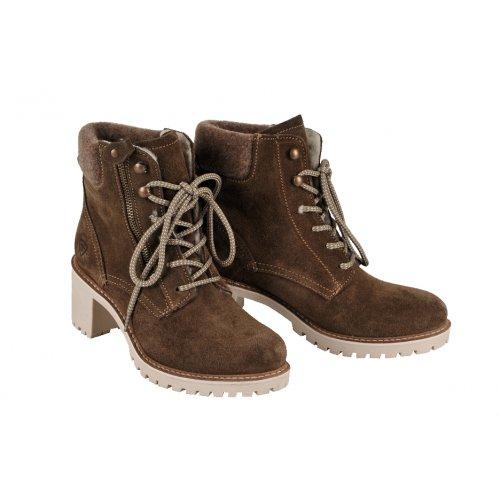 37ff4b6dd1551 TAMARIS outdoorové topánky koža semiš olivové | Kožené topánky