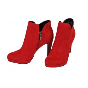 adb4cbdffd TAMARIS členkové čižmy textil červené