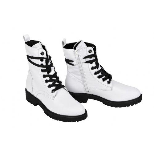 ed0533f81eb81 TAMARIS outdoorové topánky koža hladká biele | Kožené topánky